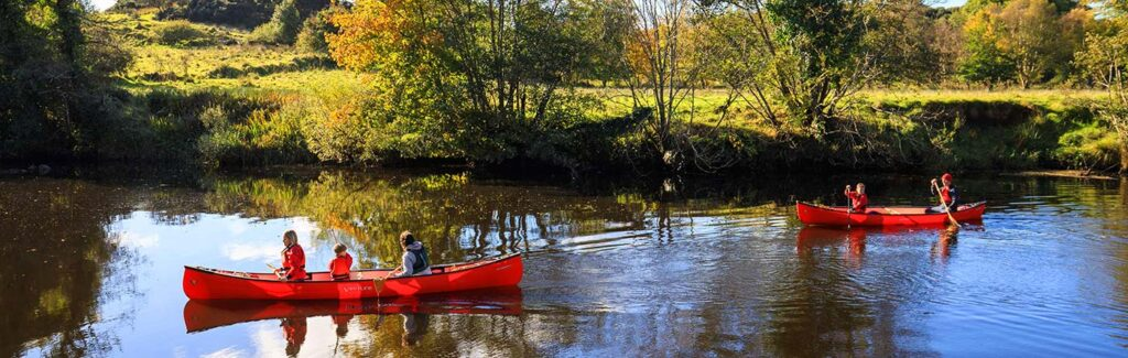 Explore the waterways by Canadian Canoe with Adventure Gently