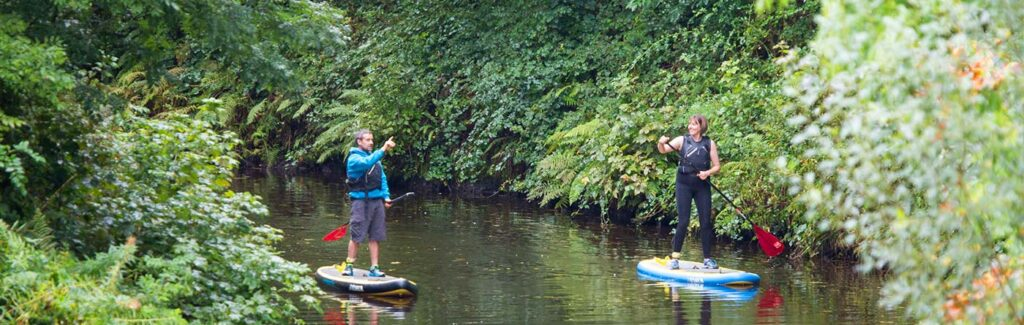 Explore the waterways by stand up paddle boarding.